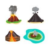 Volcano  illustration. Stock Photo