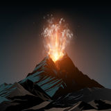 Volcano illustration. Night volcano illustration in vector Royalty Free Stock Images