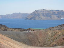Volcano In Santorini Stock Photos