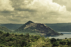 Free Volcano In The Middle Of The Lake Royalty Free Stock Image - 94160566