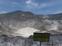Volcano in Indonesia Royalty Free Stock Photography
