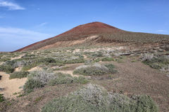 Volcano at isla graciosa canarias Stock Photo