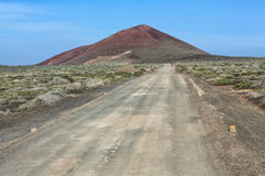 Volcano at isla graciosa canarias. Spain Stock Image