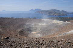 Volcano island. Royalty Free Stock Image