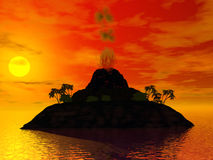 Volcano island Royalty Free Stock Photography