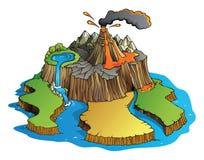 Volcano Island vector illustratie