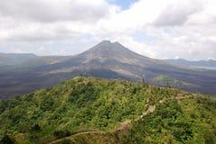 Volcano on island of Bali stock images