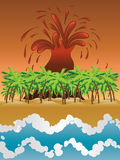Volcano island Royalty Free Stock Photos