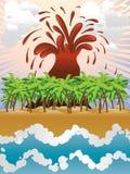 Volcano island Stock Photo