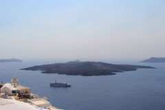 Volcano on the island of Santorini, Greece. Dormant volcano on the island of Santorini, Greece Stock Photography