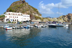 Volcano Island Sicily Stock Photography