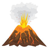 Volcano isolated on white background () Royalty Free Stock Photography