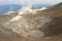 Volcano in Italy (Sicily). Volcano in Italy, Eolia islands (Sicily Royalty Free Stock Photos
