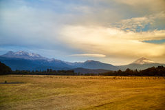 Volcano Iztaccihuatl en popocatepetl Royalty-vrije Stock Foto's