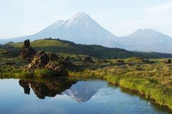 Volcano on Kamchatka Royalty Free Stock Photo
