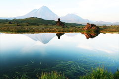 Volcano on Kamchatka Royalty Free Stock Image
