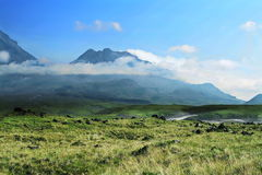 Volcano on Kamchatka Royalty Free Stock Photography