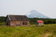 Volcano on Kamchatka Royalty Free Stock Photo
