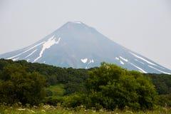 Volcano on Kamchatka Stock Photography