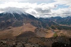 Volcano in Kamchatka Stock Photography