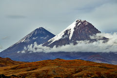Volcano of Kamchatka, Russia Stock Images