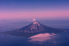 Volcano in Kamchatka Stock Image