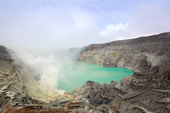 Volcano Khava Ijen Sulfur Mine Royalty Free Stock Photography
