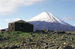 Volcano Kluchevskaja2. Volcano Kluchevskaya peak in Kamchatka royalty free stock photography