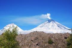 Volcano Klyuchevskaya Sopka Photo stock