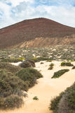 Volcano at La Graciosa, Canary Islands, Spain. Stock Photography
