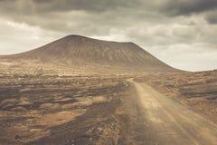 Volcano at La Graciosa, Canary Islands, Spain. Royalty Free Stock Photos