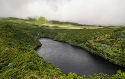 Volcano lake on Flores Stock Image