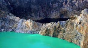 Volcano lakes stock photo