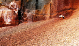 Volcano landscape. Nice volcanic landscape with brown sand and textures Stock Photos