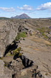 Volcano landscape, crack in the land, Iceland Stock Photo