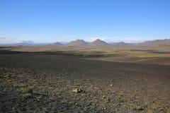 Volcano Landscape en el norte de Islandia Fotografía de archivo