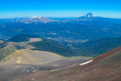 Volcano landscape on the horizont Stock Images