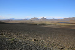 Volcano Landscape in the North of Iceland Stock Photography