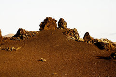 Volcano landscape at sunset, Royalty Free Stock Photography