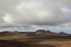 Volcano landscape, Timanfaya National Park Royalty Free Stock Images