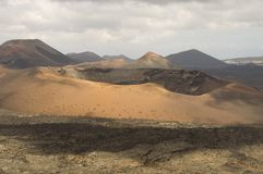 Volcano on Lanzarote, Canary Islands Stock Images