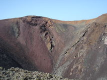 Volcano in Lanzarote Royalty Free Stock Photography