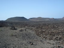 Volcano in Lanzarote Royalty Free Stock Images