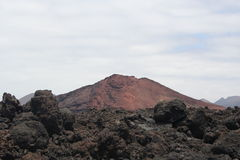 Volcano at Lanzarote Royalty Free Stock Images