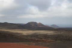 A volcano. In Lanzarote,spain Royalty Free Stock Images