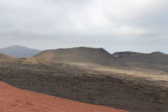 A volcano. In Lanzarote,spain Royalty Free Stock Photography