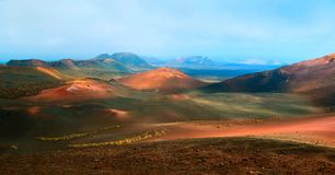 Volcano and lava desert. Lanzarote, Canary islands Stock Image