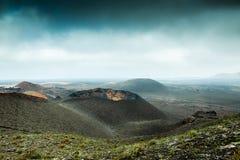 Volcano and lava desert. Lanzarote, Canary islands Stock Image