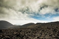 Volcano and lava desert Royalty Free Stock Photography