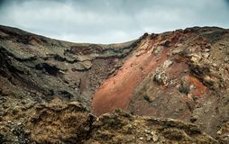 Volcano and lava desert. Lanzarote, Canary islands Royalty Free Stock Photography